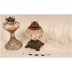 Victorian Style Kerosene Lamp Pair  (122732)