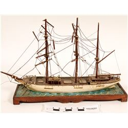 Hand Carved Ship Model, 19th Century  (119972)