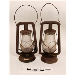 Kerosene Lamp Pair  (125258)