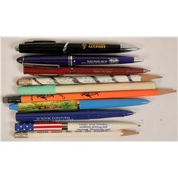 U.S. Advertising Pens and Pencils (10)  (118114)