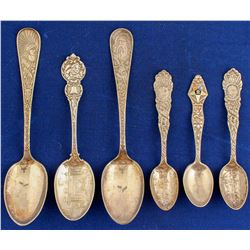 Collector Silver Spoons from Olympic to Rip Van Winkle  (80610)