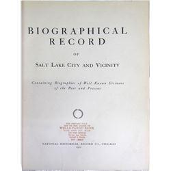 Biographical Record of Salt Lake City & Vicinity  (85878)