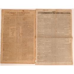 Early  Jeffersonian Newspapers from Boston and Washington City  (Lot of 2)  (116899)