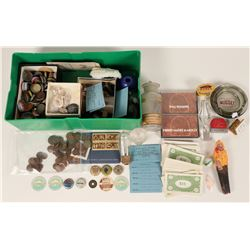 Eclectic Collection: Seaman Candle, Palace Club Coupon, Brocton MT tape, Dairy tops  (123095)
