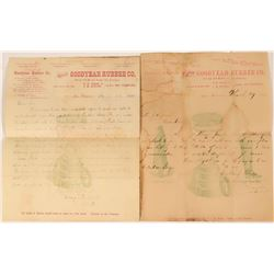 Goodyear Rubber Company Correspondence and Receipts 1880's  (108695)