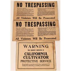 Original California Agriculture / Forestry  Broadsides (2)  (110383)