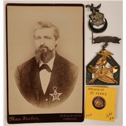 Fraternal Badges and Photo  (117327)