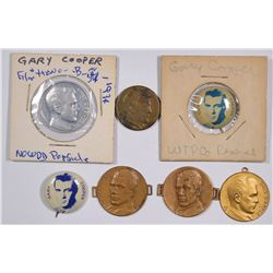 Gary Cooper Pinbacks and Medals (7)  (124271)