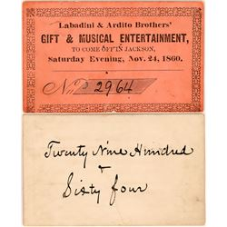 Gold Rush Musical Entertainment Ticket  (119122)