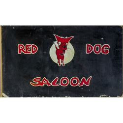 Red Dog Saloon, Birth Place of Psychedelic Rock! Original Two-Sided Sign  (110402)