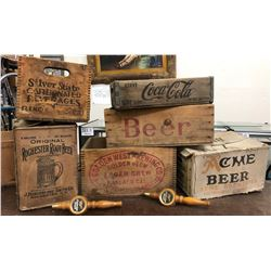 Beer & Soda Wood Boxes (6)  (108300)