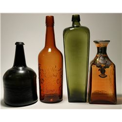 Rare 18th Century & Other Bottles (4)  (117945)