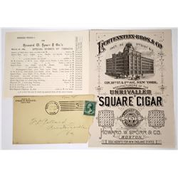 Unrivaled Square Cigar Pictorial Handbill With Cover & Price List  (118652)