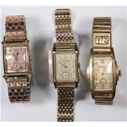 Three Bulova Wristwatches  (124122)