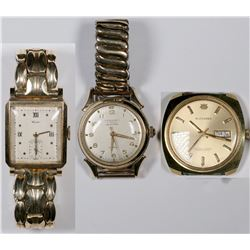 Three Swiss Wristwatches  (124117)