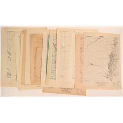 Advance Sheet maps of California c. 1920  (117837)