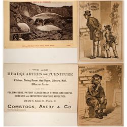 Cigar and Hydraulic Mining Tradecards (2)  (100006)