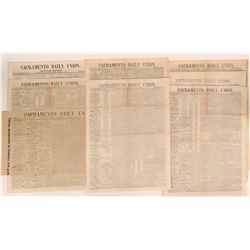 Sacramento Daily Union Papers (8)  (123115)