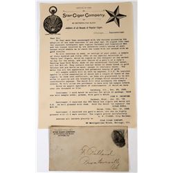 Star Cigar Company Pictorial Letterhead and Cover, Chicago, 1899  (118628)