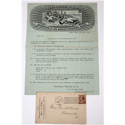 Holbrook & Cos. Worchester Sauce Pictorial Letterhead W. Cover  (118630)