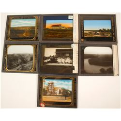 Montana and S.Dakota Glass Slides (7)  (76821)