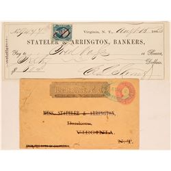 Stateler & Arrington, Bankers, Territorial Cover & Check  (113341)