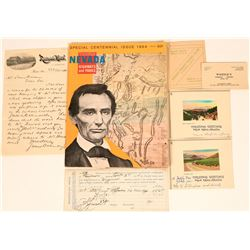 Miscellaneous Nevada Lot with 1875 V&T Receipt  (123164)