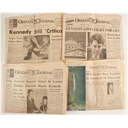 Robert Kennedy Shooting, Oregon Journals Editions (4)  (89849)