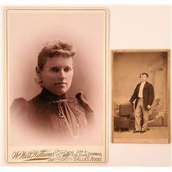 Mounted Photo Woman Texas  (117313)