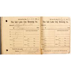 Salt Lake Brewing Co. Receipts  (88536)