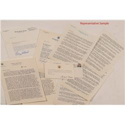 Political Letters from 1969-1974: Including Stevenson, Goldwater, Thurman, Nixon, etc. (40)  (10450