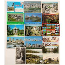 Edmonton, Canada Postcards (18)  (91388)