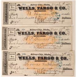 Silver City, Idaho Owyhee Mining Company Checks  (123455)