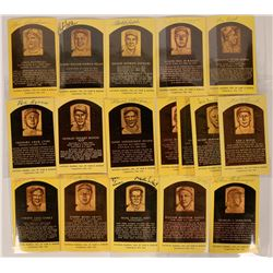 American League Signed Hall of Fame Postcards  (116082)
