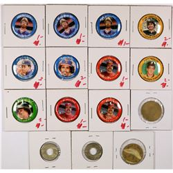 Baseball Pinbacks and Token  (125857)