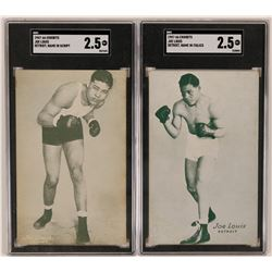 Exhibits Pair of Joe Louis Cards  (119254)