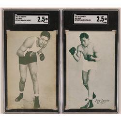 Exhibits Pair of Joe Louis Cards  (119254)