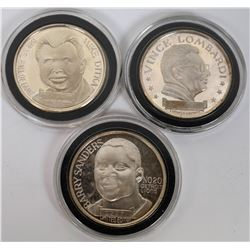 Football Collectible Silver Rounds  (124174)