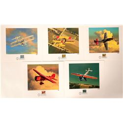 Classic American Aircraft Prints (Lot of 5)  (106155)