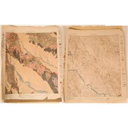 Arizona Ray Quadrangle Areal Geology & Topography Maps (2 Maps)  (110380)