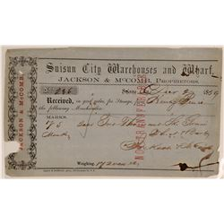 Suisun City Wharf Receipt, California Gold Rush, 1859  (111982)