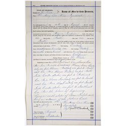 Arizona Surprise Mine Location Certificate  (118650)