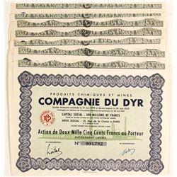 Compagnie Du Dyr Mining Bond Certificates (7)  (81805)