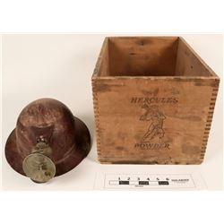 Mining Artifacts- Dynamite Box and Hat  (125124)