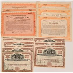 Michigan Motor Company Stock Collection  (117884)