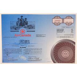 Air Canada Specimen Stock Certificate With Planes & Crew Vignette  (111958)
