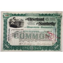 Cleveland & Sandusky Brewing Co Stock Certificate, 1905  (118620)