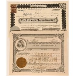Nebraska Industrial Stock Certificates (2)  (111793)