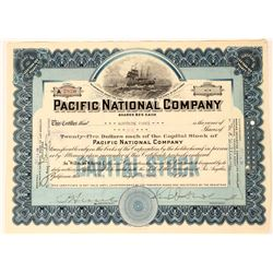 Pacific National Co. Stock, California With Large Sailing Ships  (111813)