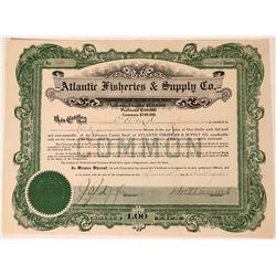 Atlantic Fisheries & Supply Company Stock Certificate  (111817)